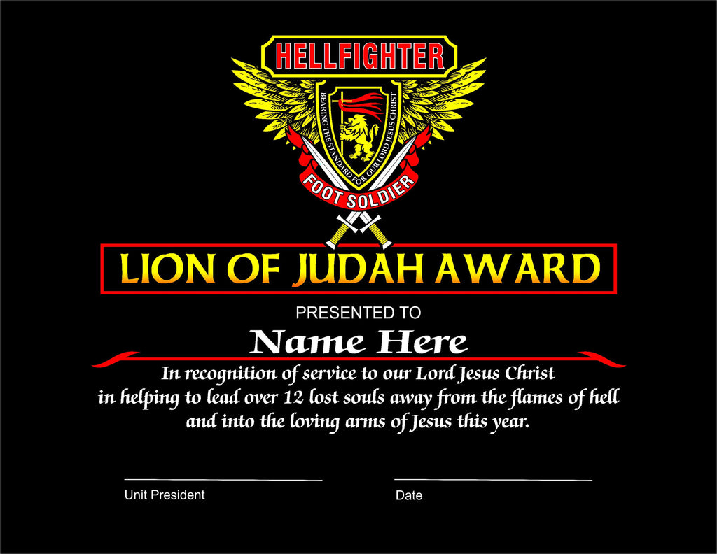 Award, Lion of Judah - Foot Soldier