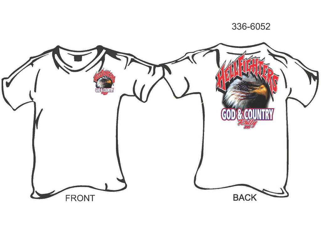 T-Shirt, Short sleeve, Hellfighters God & Country Rally 2015