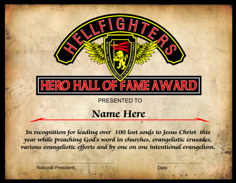 Award, Hero Hall of Fame