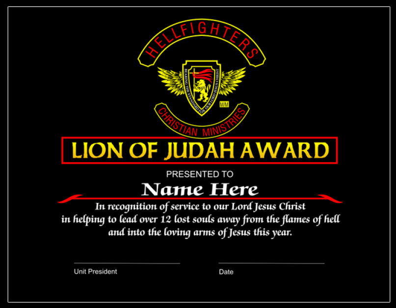 Award, Lion of Judah - 3pc Member