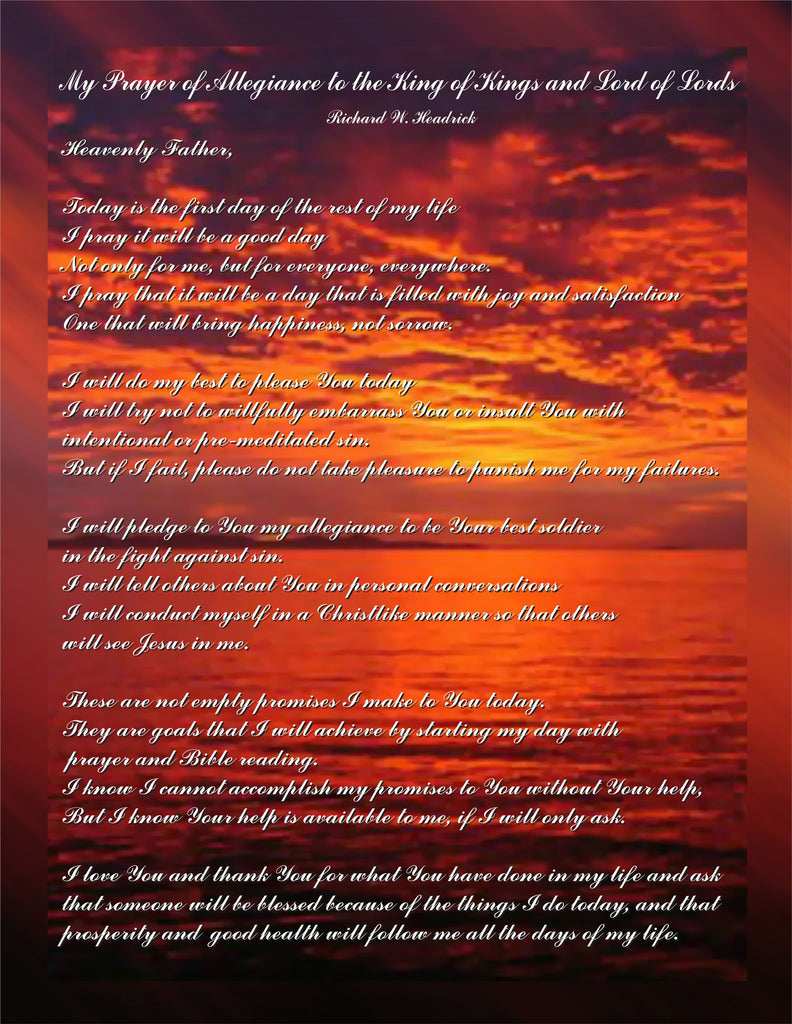 Poem/Pledge, Prayer of Allegience