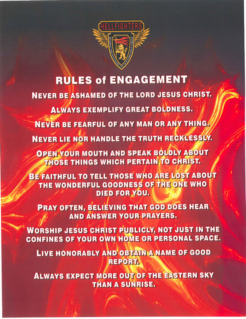 Poem/Pledge, Hellfighters Rules of Engagement