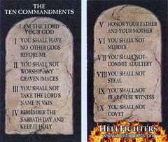 Cards, Ten Commandments (Pack of 100)