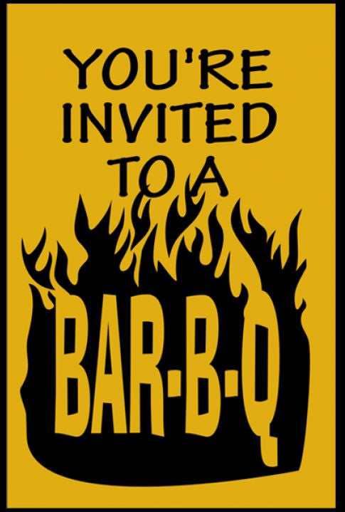 Tracts, You're Invited to a Bar-B-Q (Pack of 100)