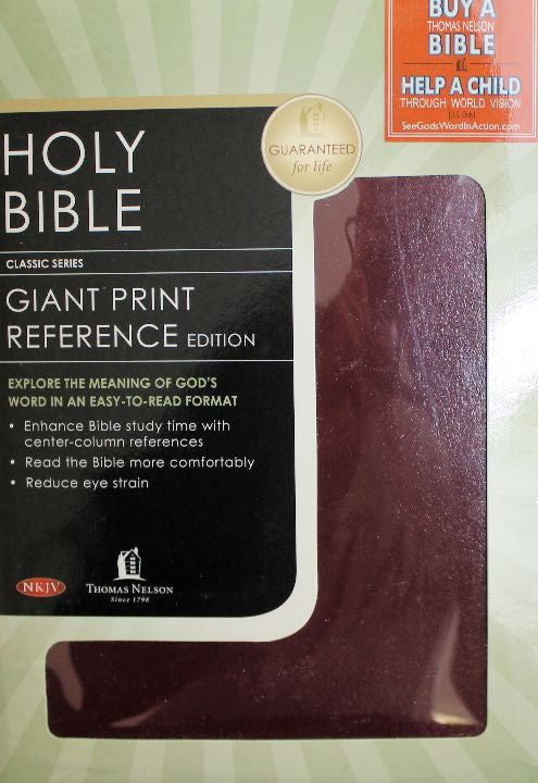 "Book, Holy Bible ""Giant Print reference Edition"""