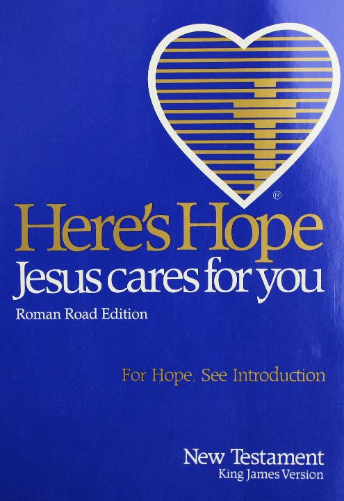 Book, Here's Hope Jesus Cares For You New Testament KJV