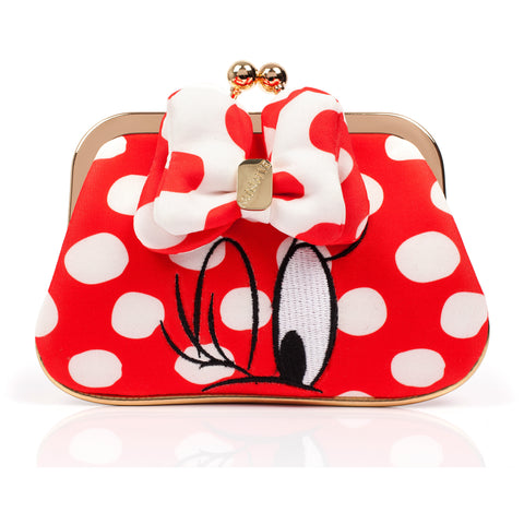 Mickey Mouse & Mouse I Heart Minnie Purse Red