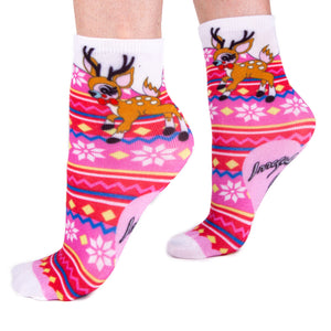 Reindeer Christmas Socks