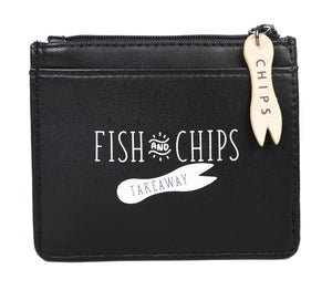 Fish and Chips Zipped Coin Purse