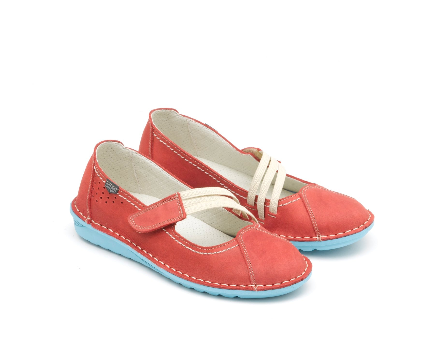 Onfoot Leather Elastics Rojo