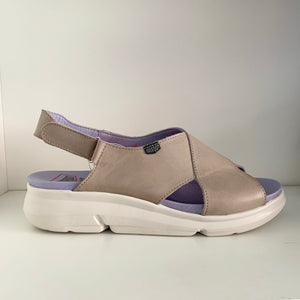 Onfoot Leather Sandals Taupe 90001
