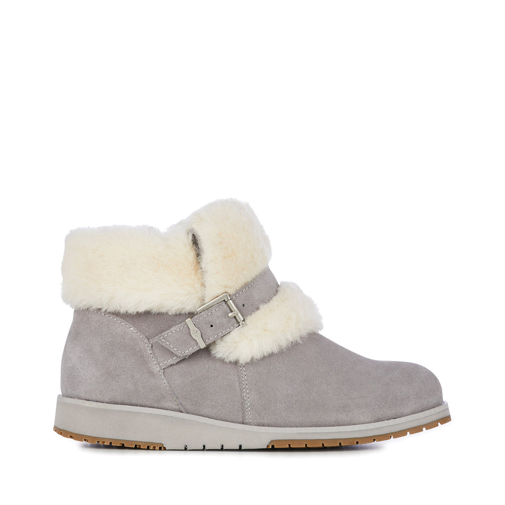 Oxley Grey Fur Cuff Boots