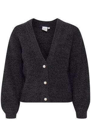 Ihmarin Black Pearl Button Cardigan