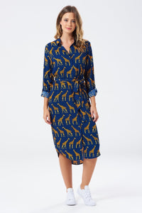 Giraffe Shirt Dress