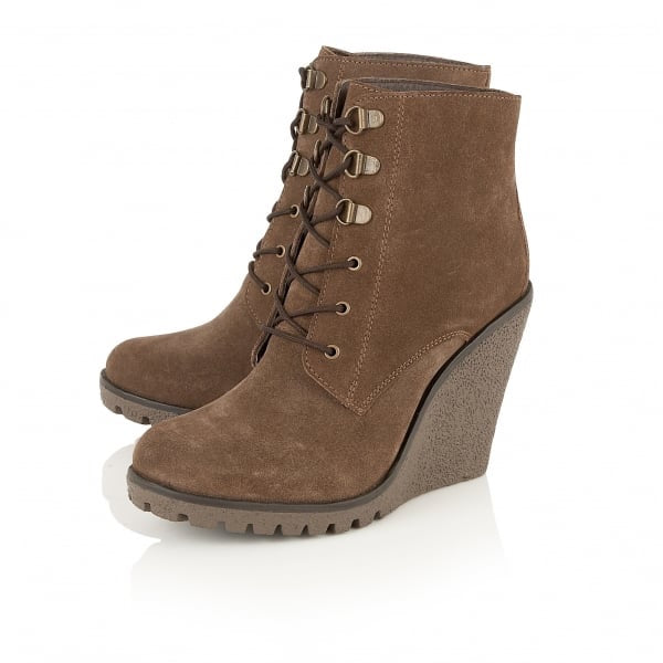 Ravel Trinity Suede Wedge Boot