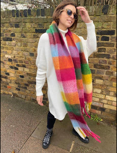 Rainbow Check Scarf