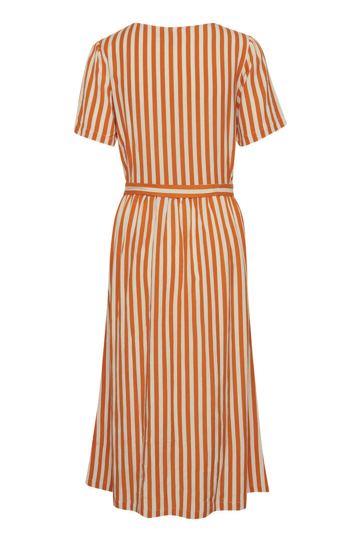 Ihjulle Orange Stripe Dress