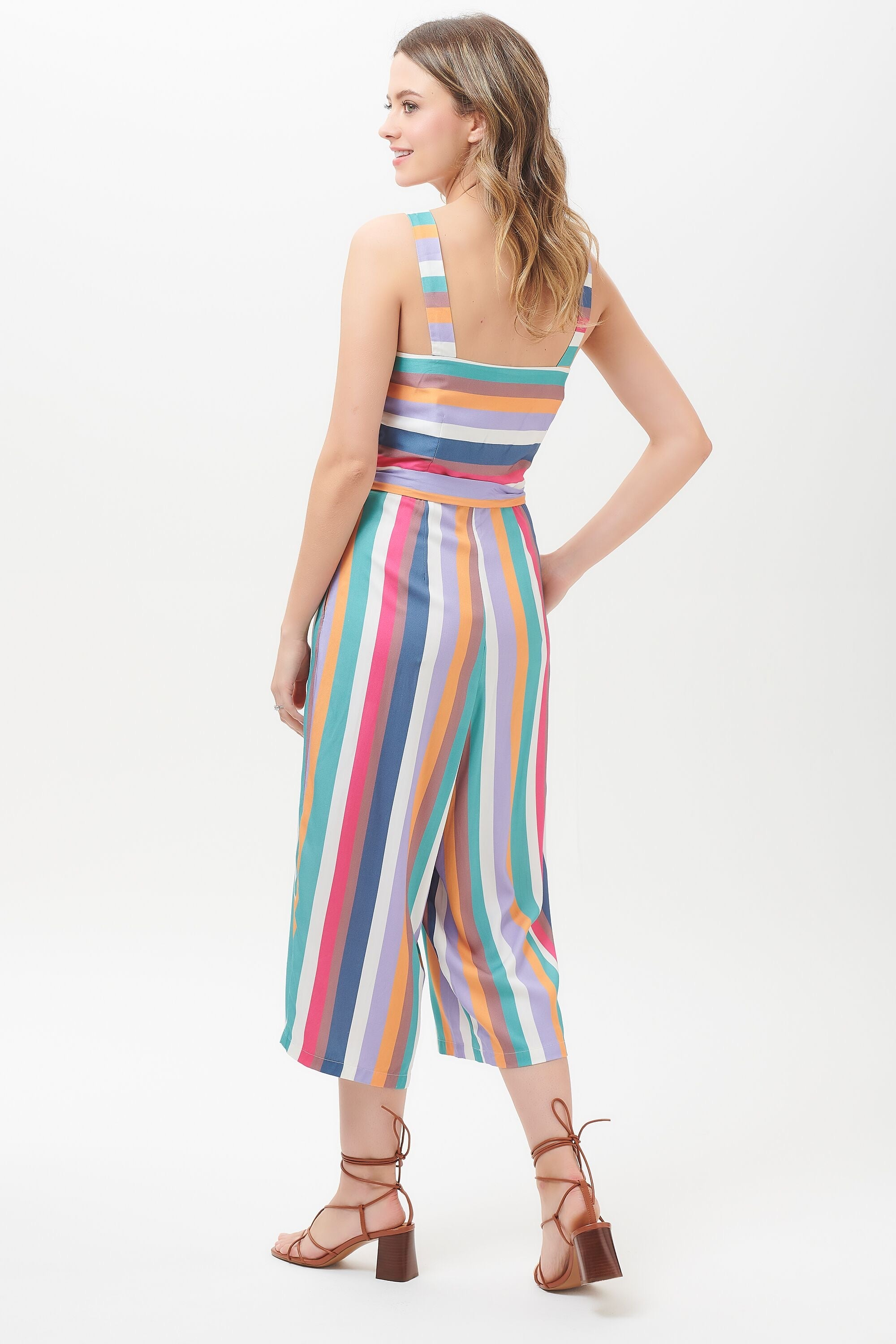 Sugarhill Millie Cruise Stripe Culotte Jumpsuit