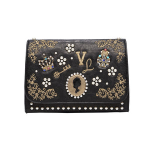 Pearly Queens Embellished Shoulder Bag