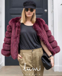 Boston Wine Faux Fur Jacket