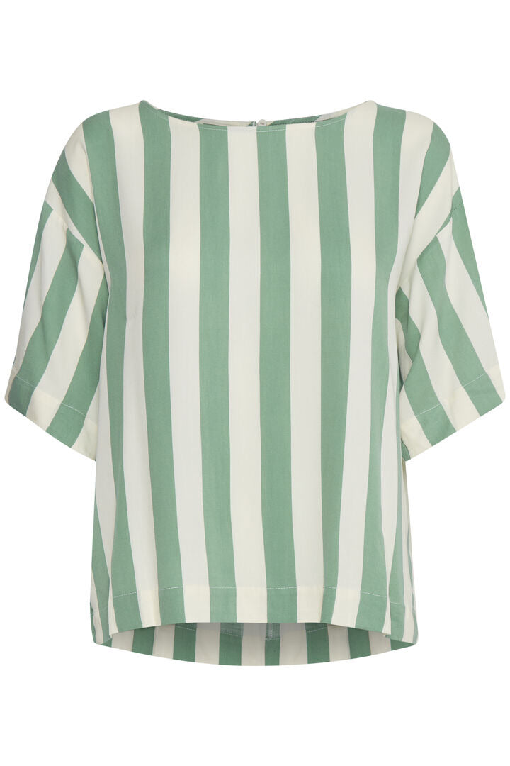 Ihcatarina Green Stripe Top