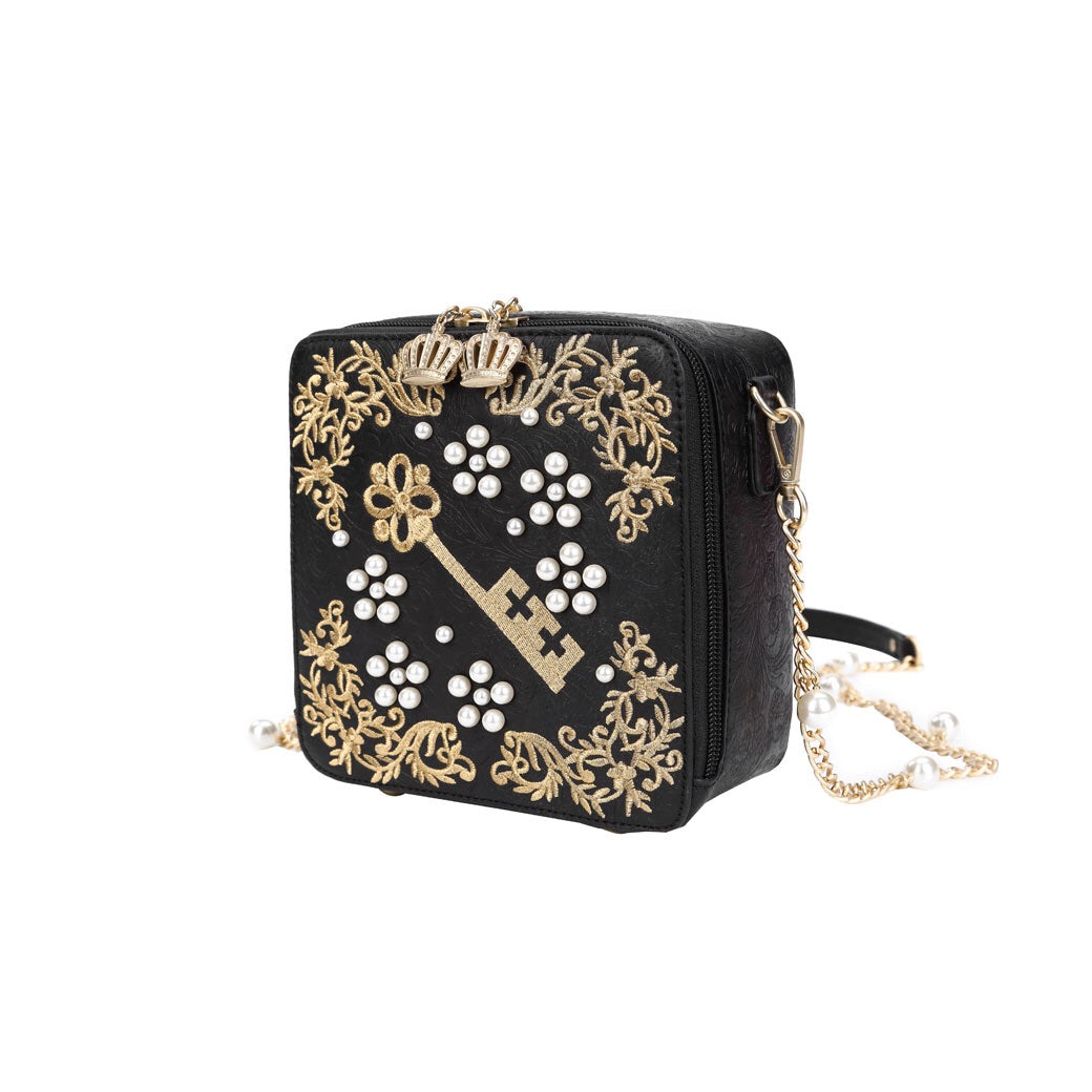 Pearly Queens Embellished Box Bag