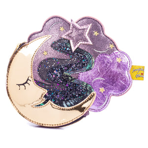 Mini Mooni Purse Purple Black