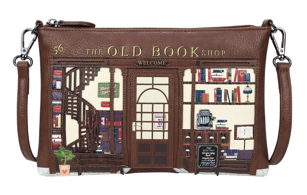 Old Book Shop Pouch Bag
