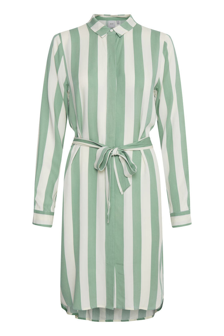 Ihcatarina Green Stripe Dress