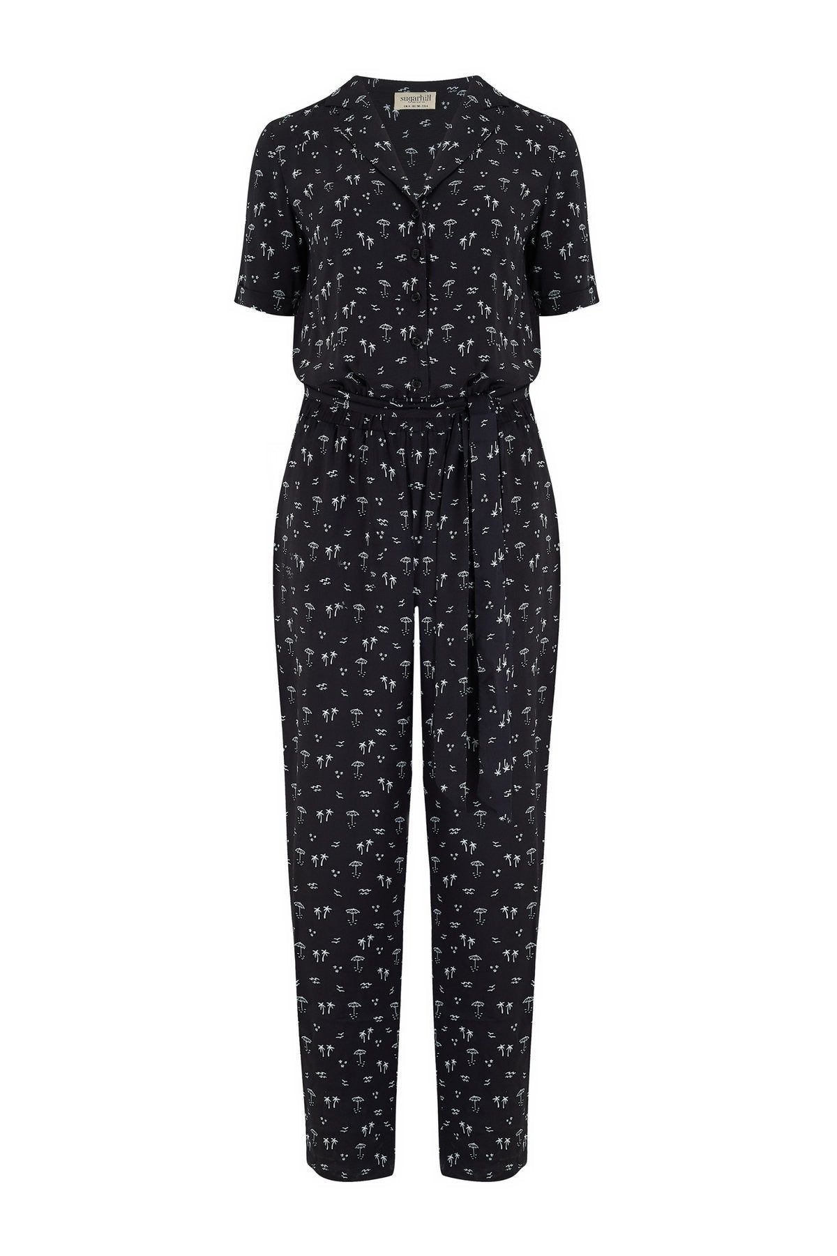 Madison Island Beach Print Jumpsuit