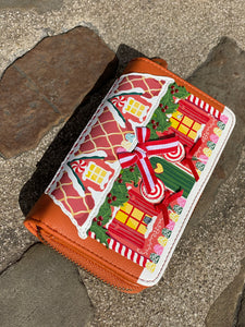 Gingerbread Zipround Wallet