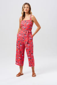 Millie Havana Cropped Jumpsuit