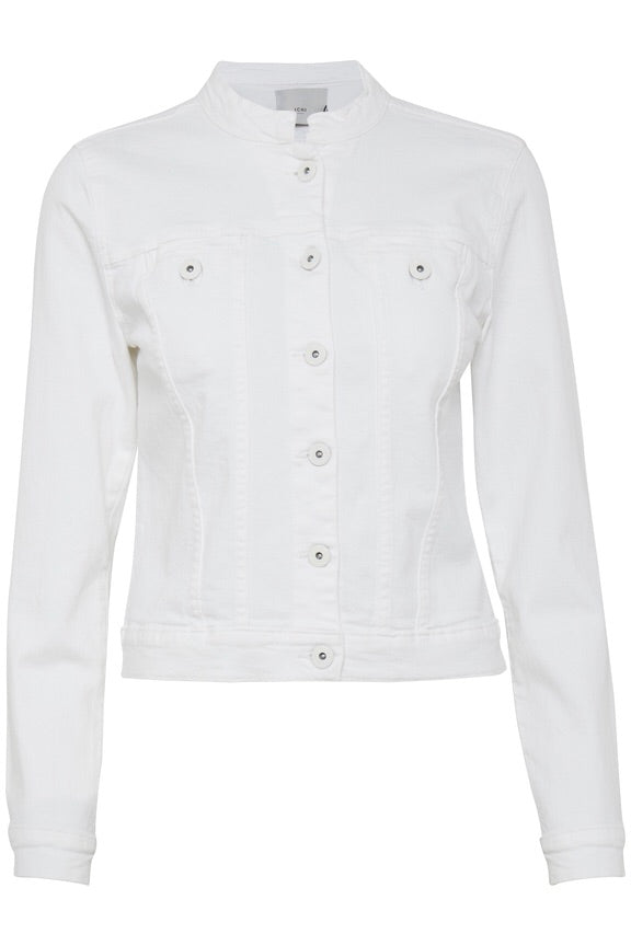 Ivana White Jean Denim Jacket