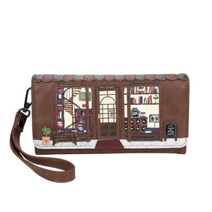 Old Book Shop Fold Over Purse