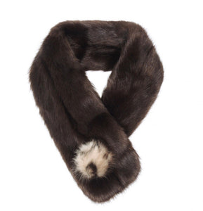 Pom Button Scarf Treacle / Ocelot