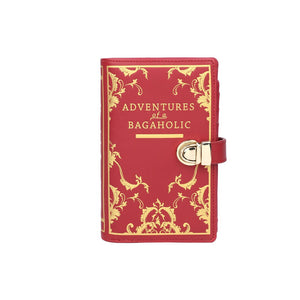 Book Shaped Wallet Red