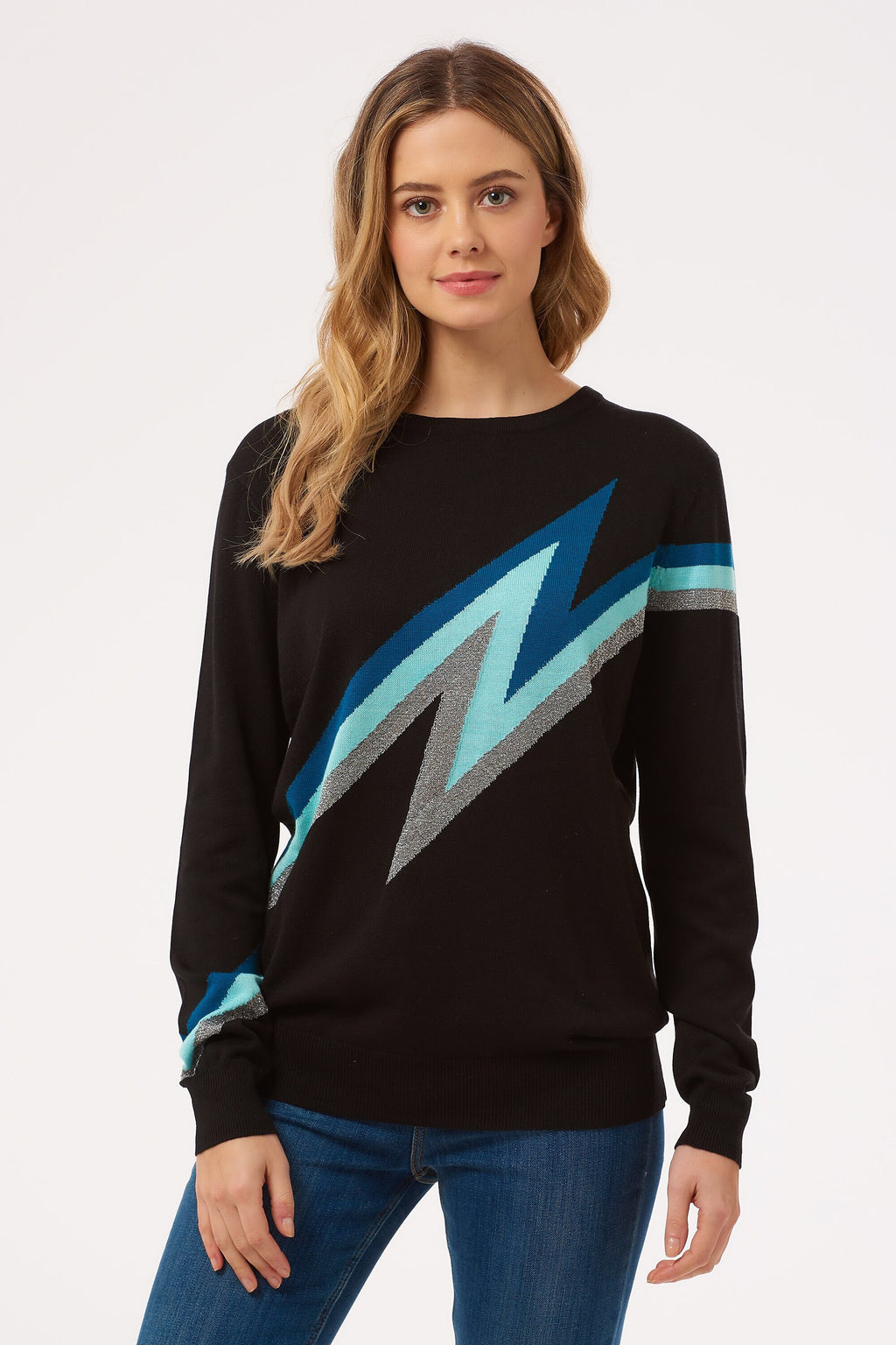 Rita Zap! Lightning Bolt Sweater