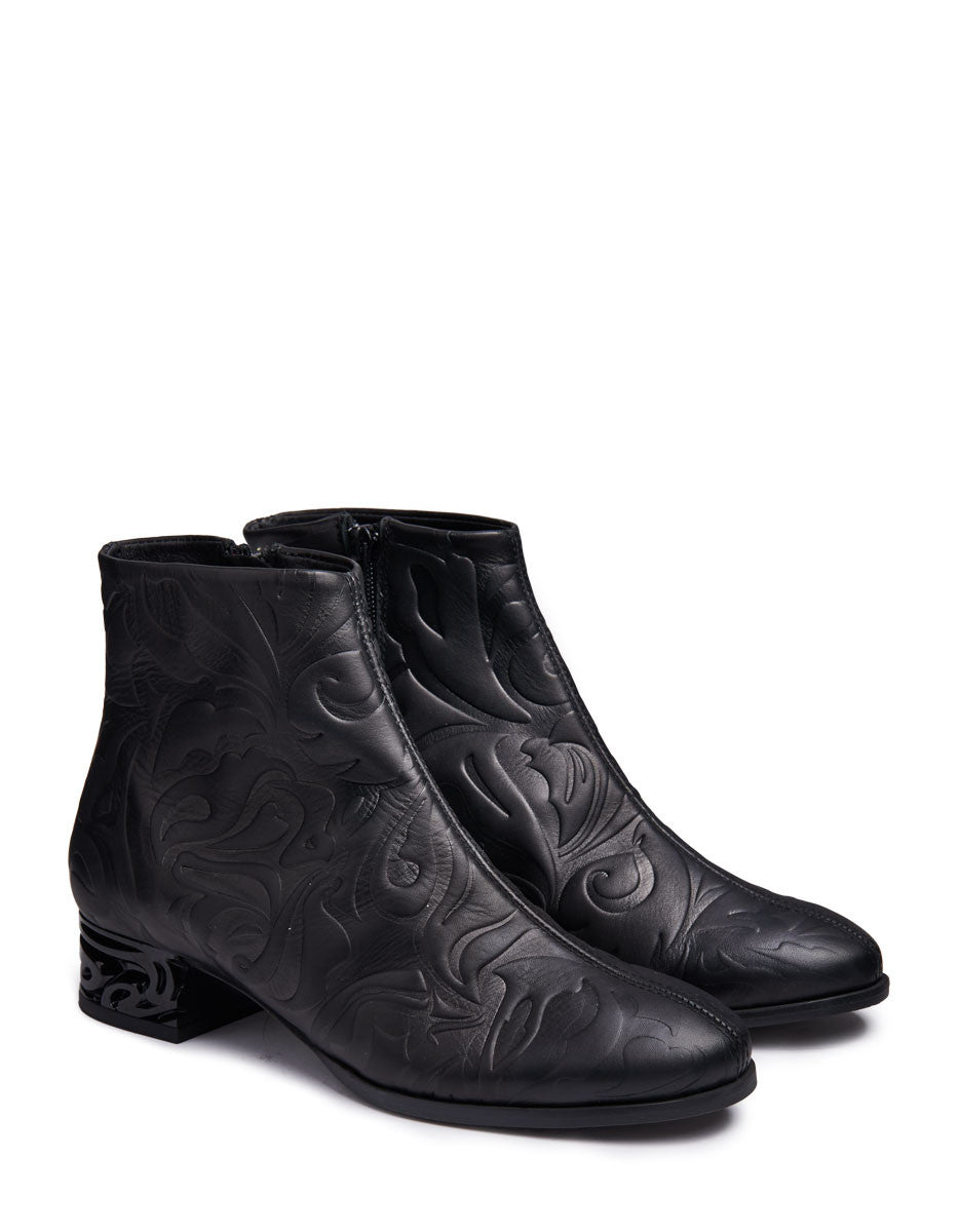 Ryan Embossed Leather Boots