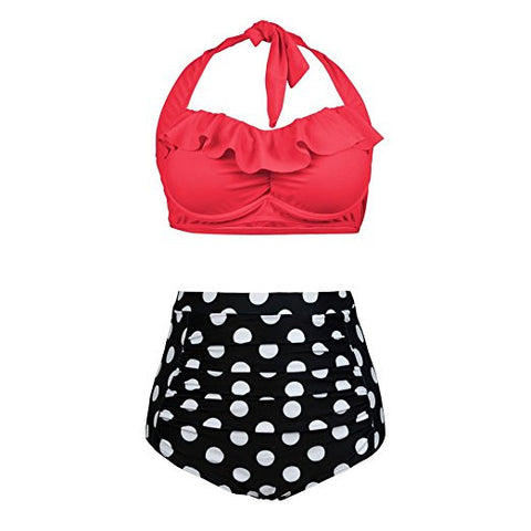 Plus Size Retro High Waist Bikini