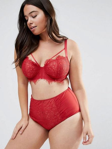 Red Plus Size Lingerie - Valentine's Day