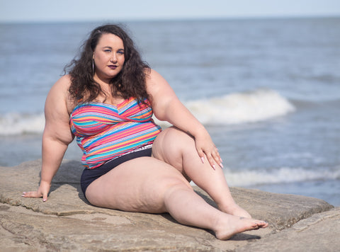 Plus Size Swimwear Three Ways