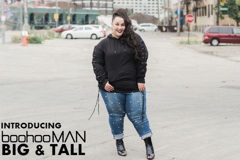 Introducing boohooMAN for Big & Tall Plus Babes
