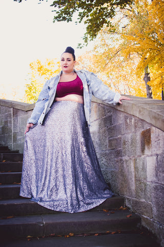 plus size sequin maxi