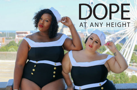 DOPE At Any Height: ELOQUII's New Plus Size Swim Line Shown on Petite and Tall