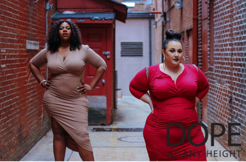 DOPE at Any Height: Tall and Petite Plus Size Dresses
