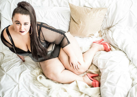 My First Plus Size Boudoir Shoot