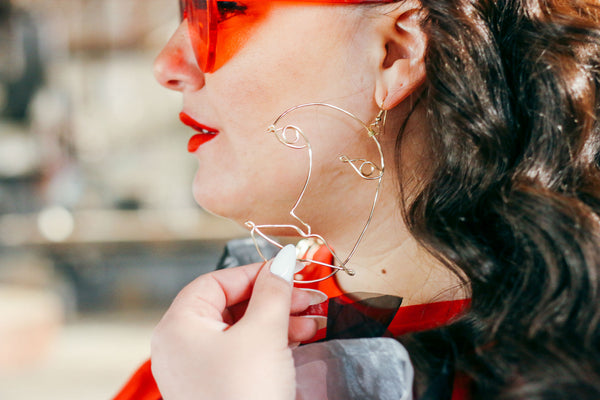 Wire Face Earrings
