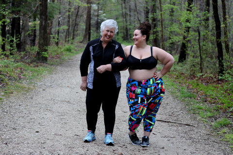 Celebrating Mother's Day In Curvy Couture Plus Size Sports Bras