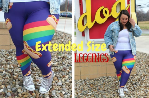 Extended Plus Size Leggings