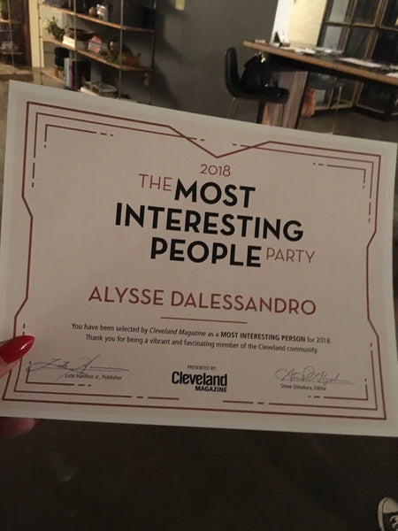 I'm One of Cleveland Magazine's Most Interesting People of 2018!